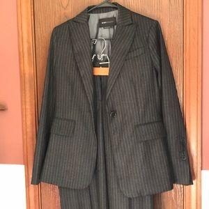 BCBGMaxazria charcoal grey pinstripe suit- small/4